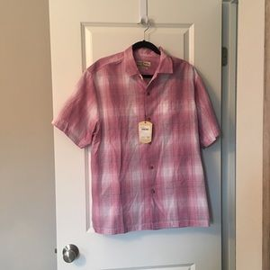 Men's Tommy Bahama pink  button down shirt large